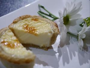 custard tart cut