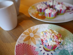 spring cupcake closeup