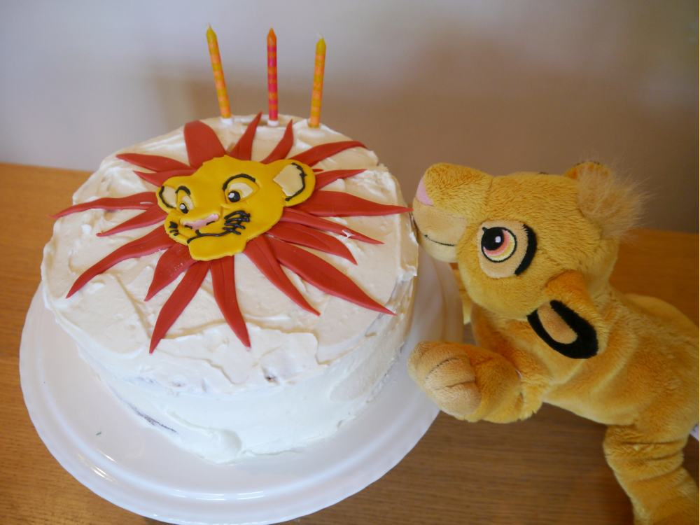 Lion food birthday cake for Simba Mummy makes cakes