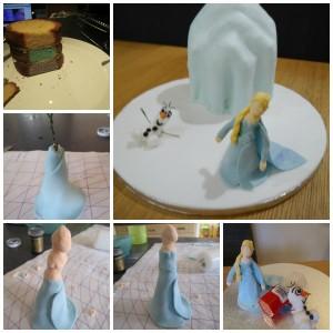 Frozen cake collage