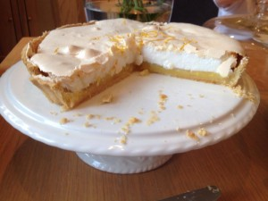 lemon meringue pie inside